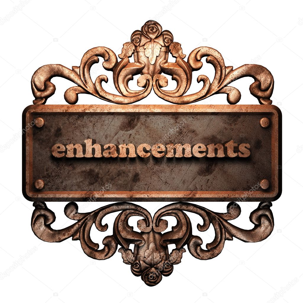 Word on bronze ornament — Stock Photo #8451772