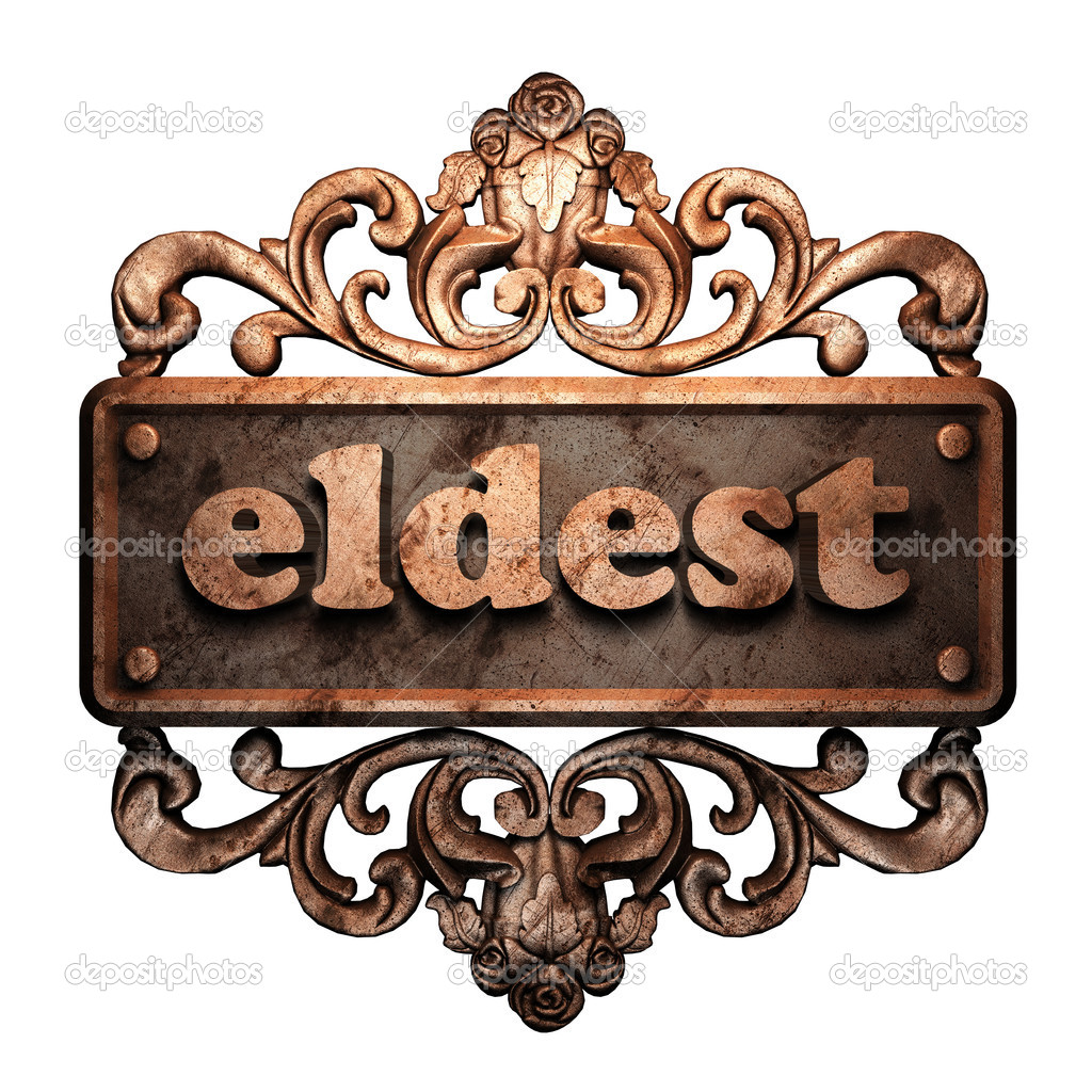 Word on bronze ornament — Stock Photo #8451781