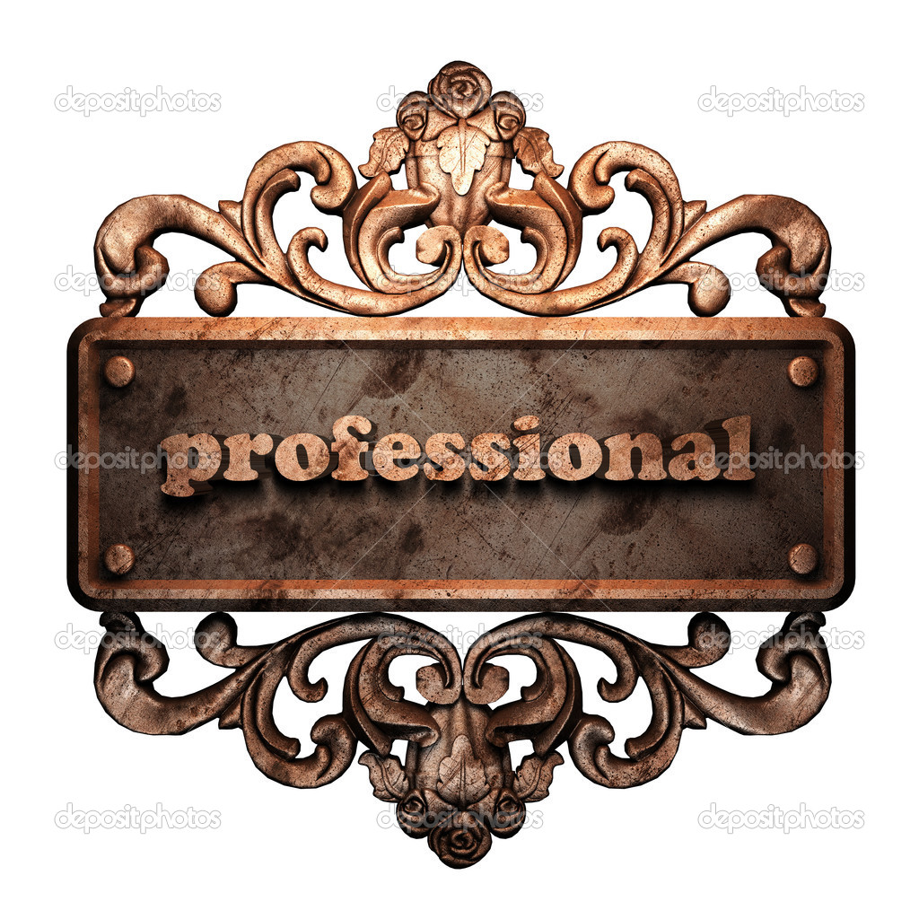 Word on bronze ornament — Stock Photo #8474224