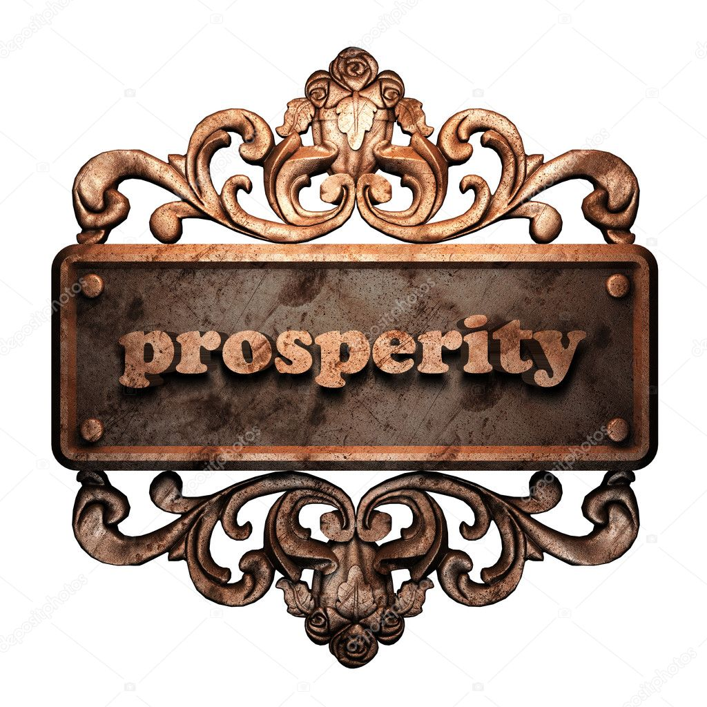 Word on bronze ornament — Stock Photo #8474276