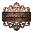 Word on bronze ornament - Stockfoto