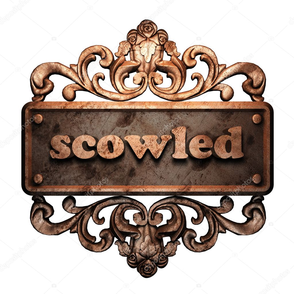 Word on bronze ornament — Stock Photo #8480239
