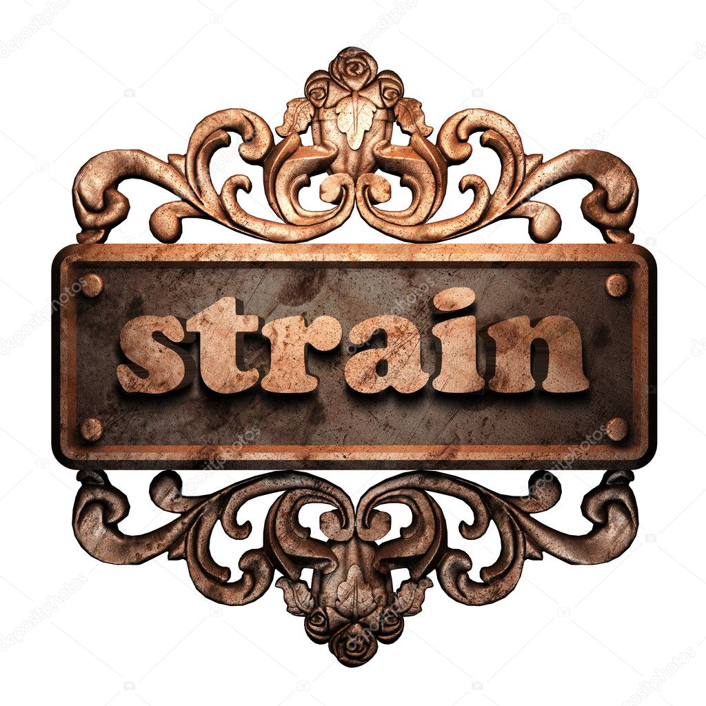 Word on bronze ornament — Stock Photo #8480253
