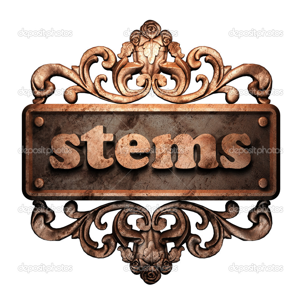Word on bronze ornament — Stock Photo #8480315