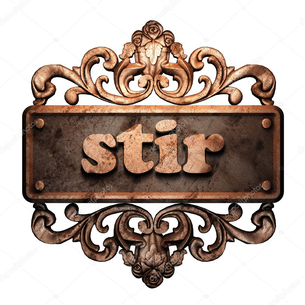 Word on bronze ornament — Stock Photo #8480317