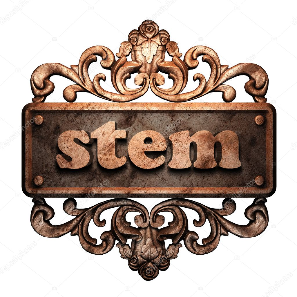 Word on bronze ornament — Stock Photo #8480319