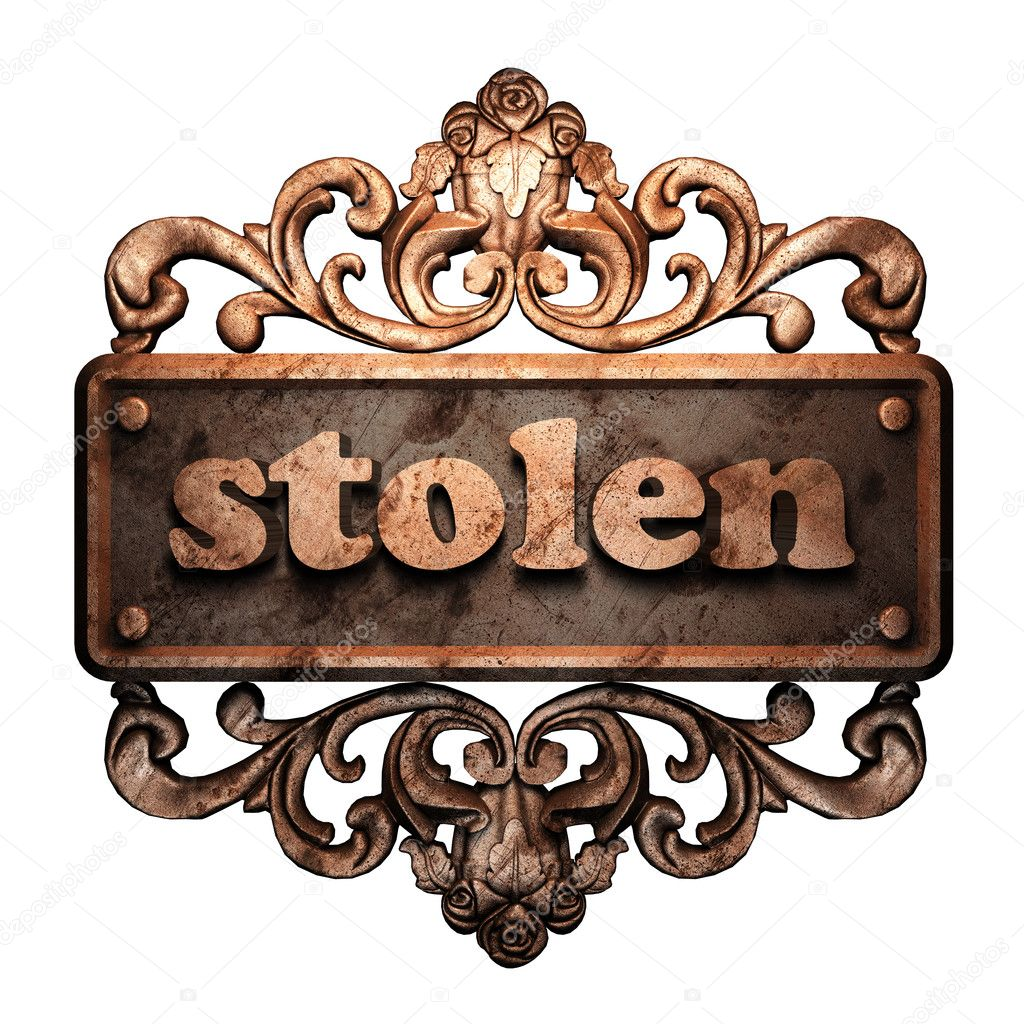 Word on bronze ornament — Stock Photo #8480354
