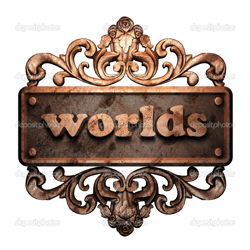 Word on bronze ornament — Stock Photo #8489037