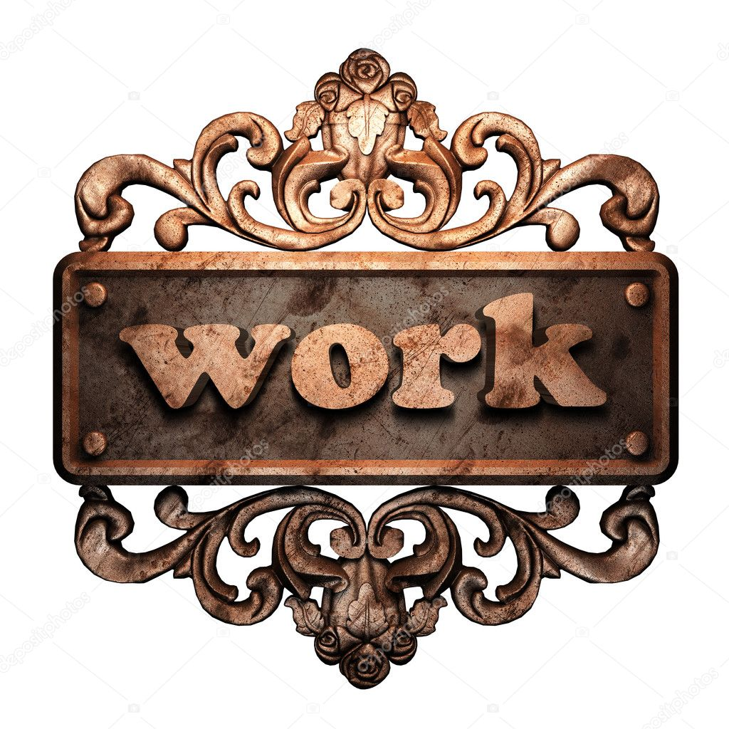 Word on bronze ornament — Stock Photo #8489123