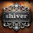 Silver word on ornament — Stock Photo