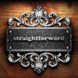 Silver word on ornament - Zdjcie stockowe