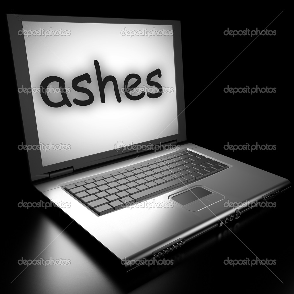 Word on laptop made in 3D — Stock Photo #9846506