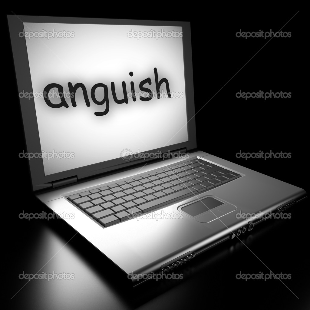 Word on laptop made in 3D — Stock Photo #9846508