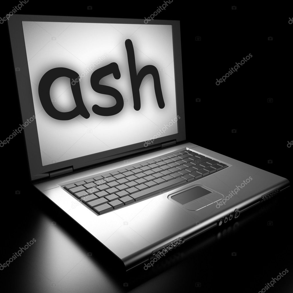 Word on laptop made in 3D — Stock Photo #9846517