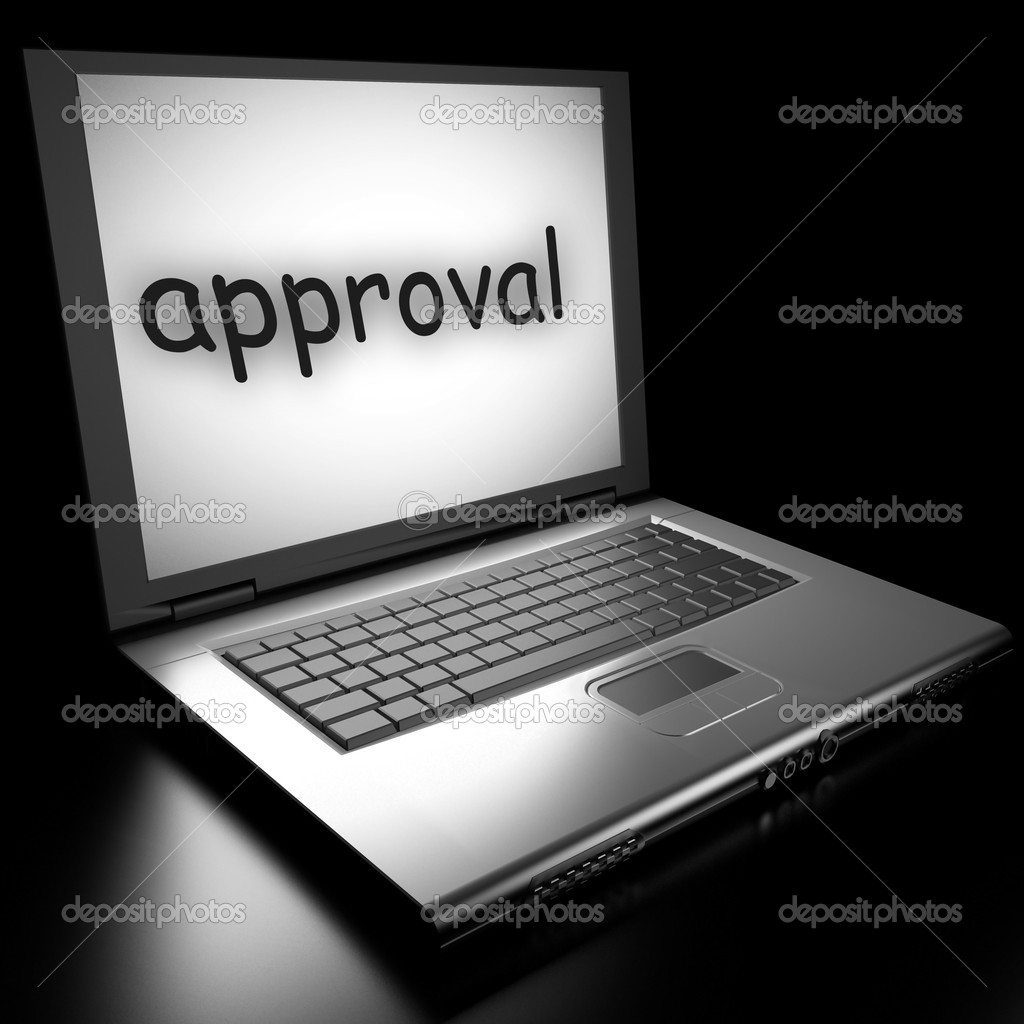Word on laptop made in 3D  Stock Photo #9846526