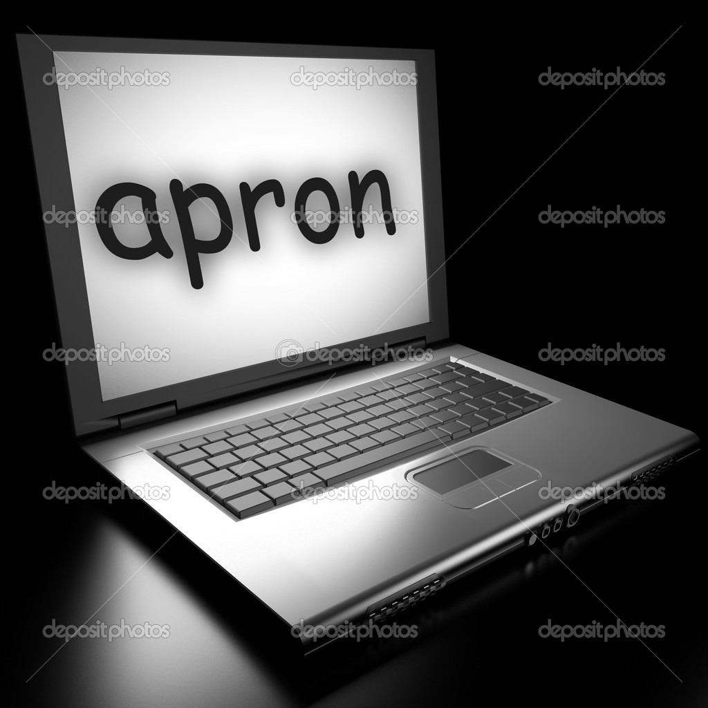Word on laptop made in 3D — Stock Photo #9846559
