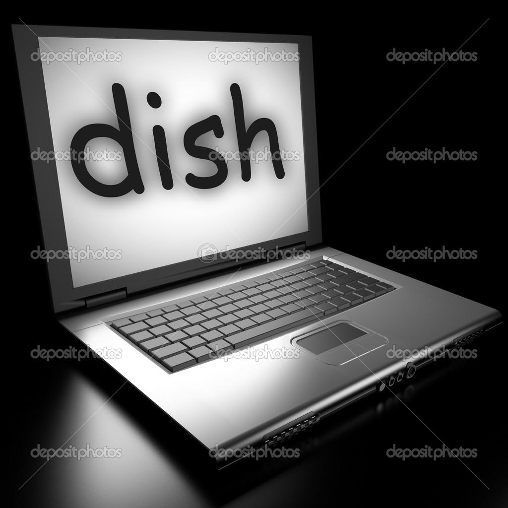 Word on laptop made in 3D  Stock Photo #9853399