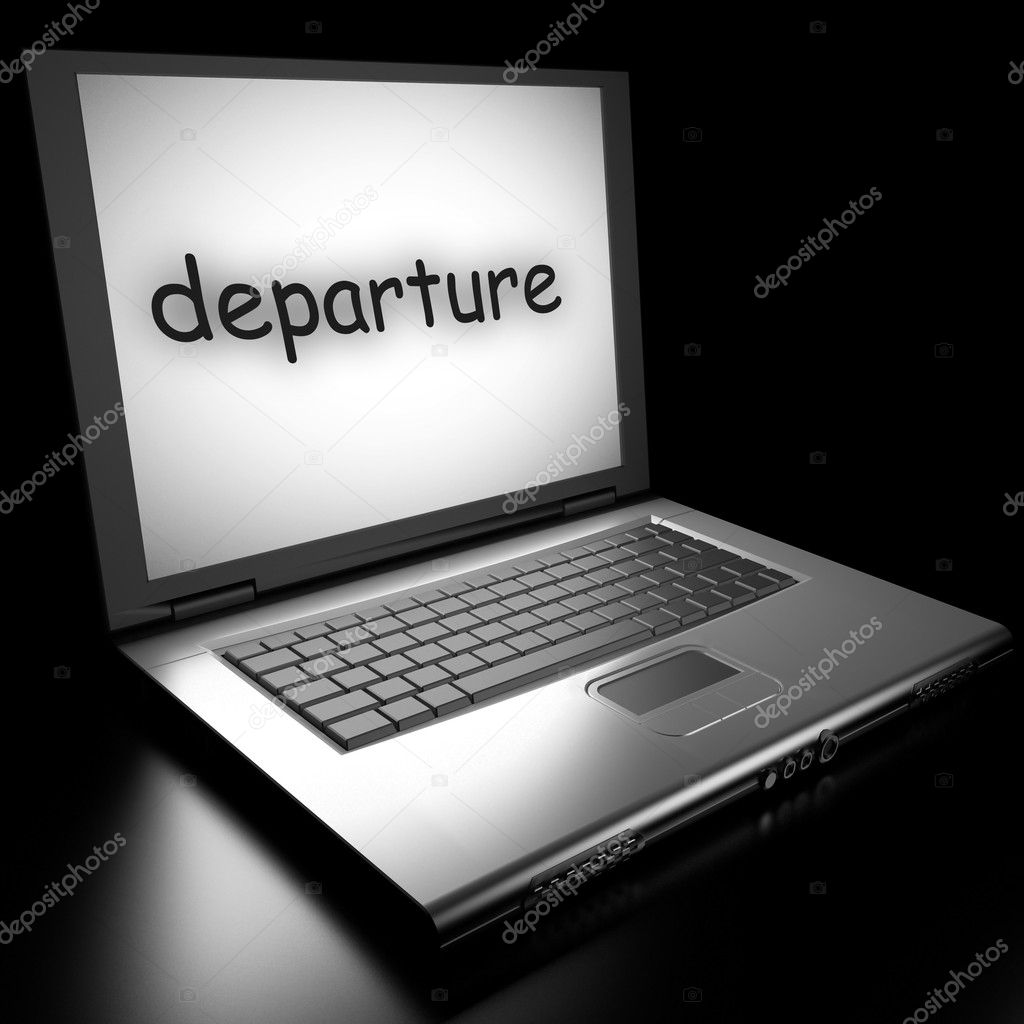 Word on laptop made in 3D — Stock Photo #9853402