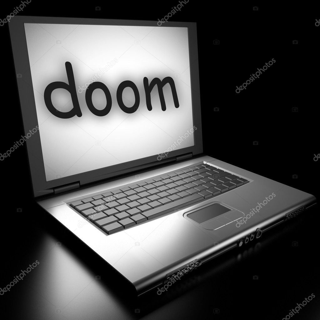 Word on laptop made in 3D — Stock Photo #9853415