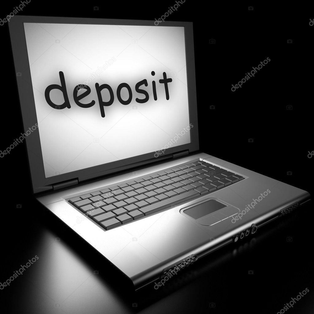 Word on laptop made in 3D — Stock Photo #9853460