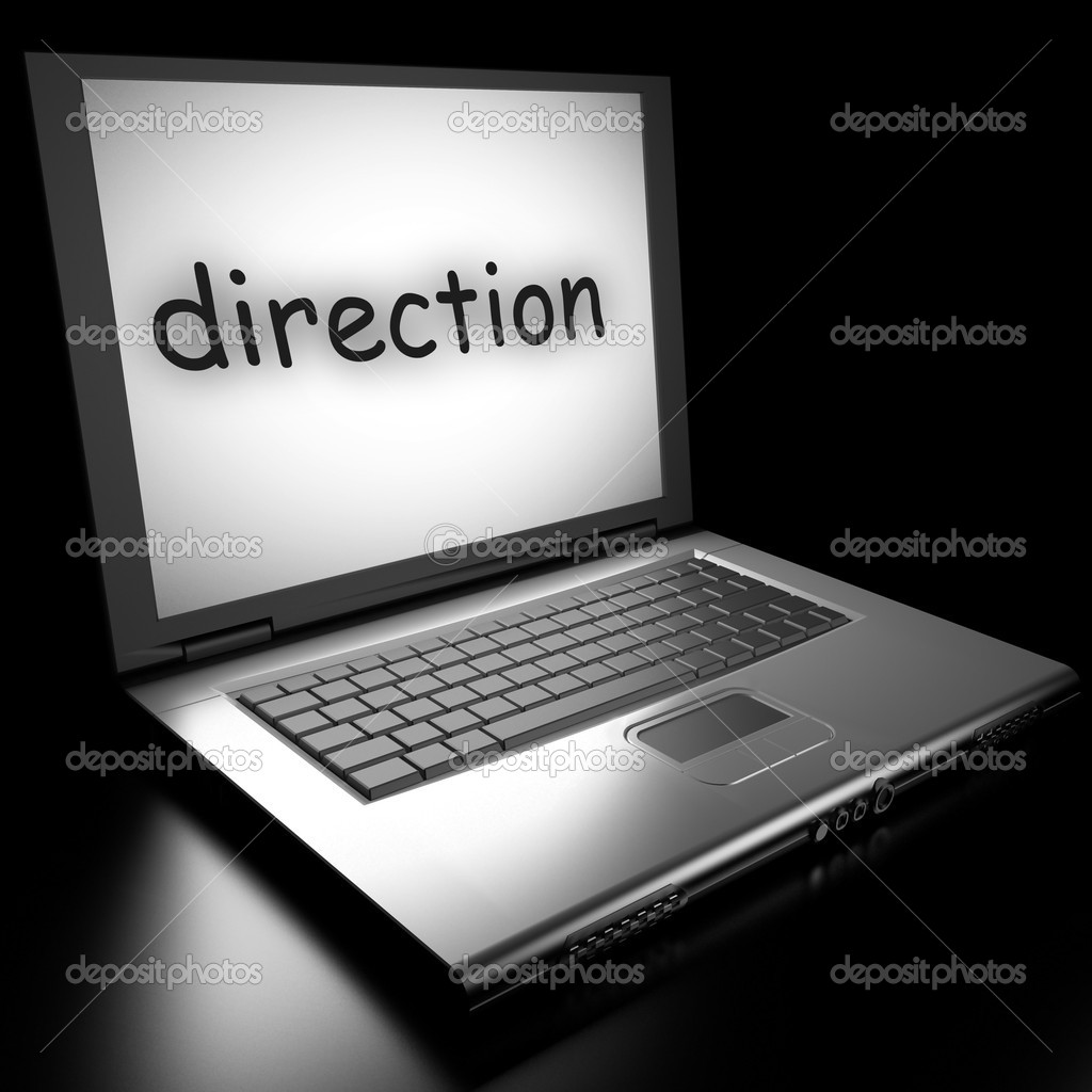 Word on laptop made in 3D — Stock Photo #9853480