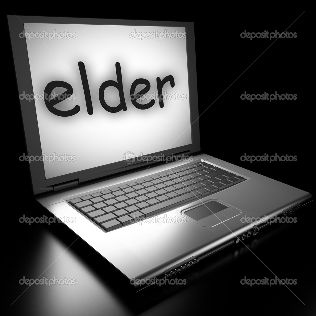 Word on laptop made in 3D  Stock Photo #9853704