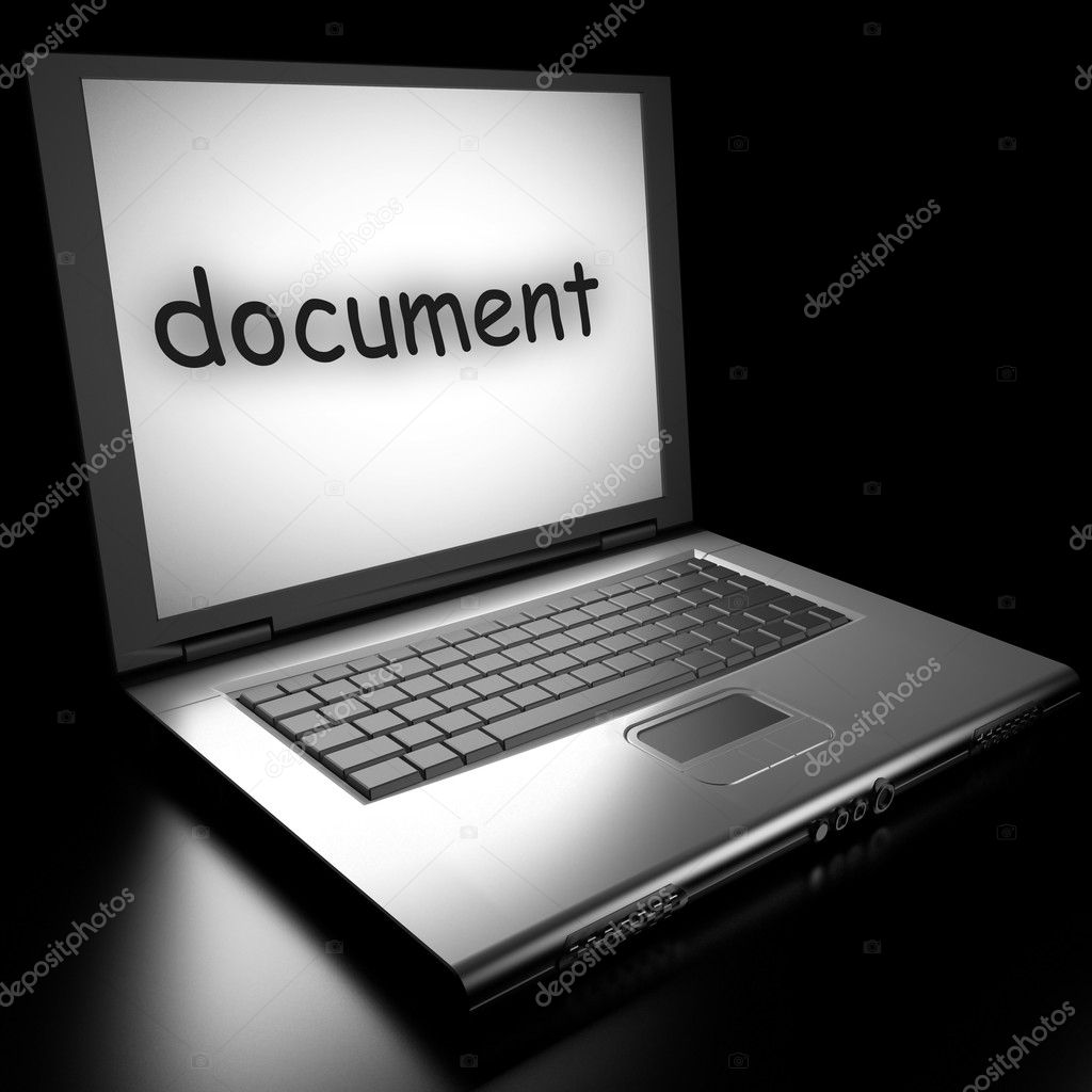 Word on laptop made in 3D — Stock Photo #9853784