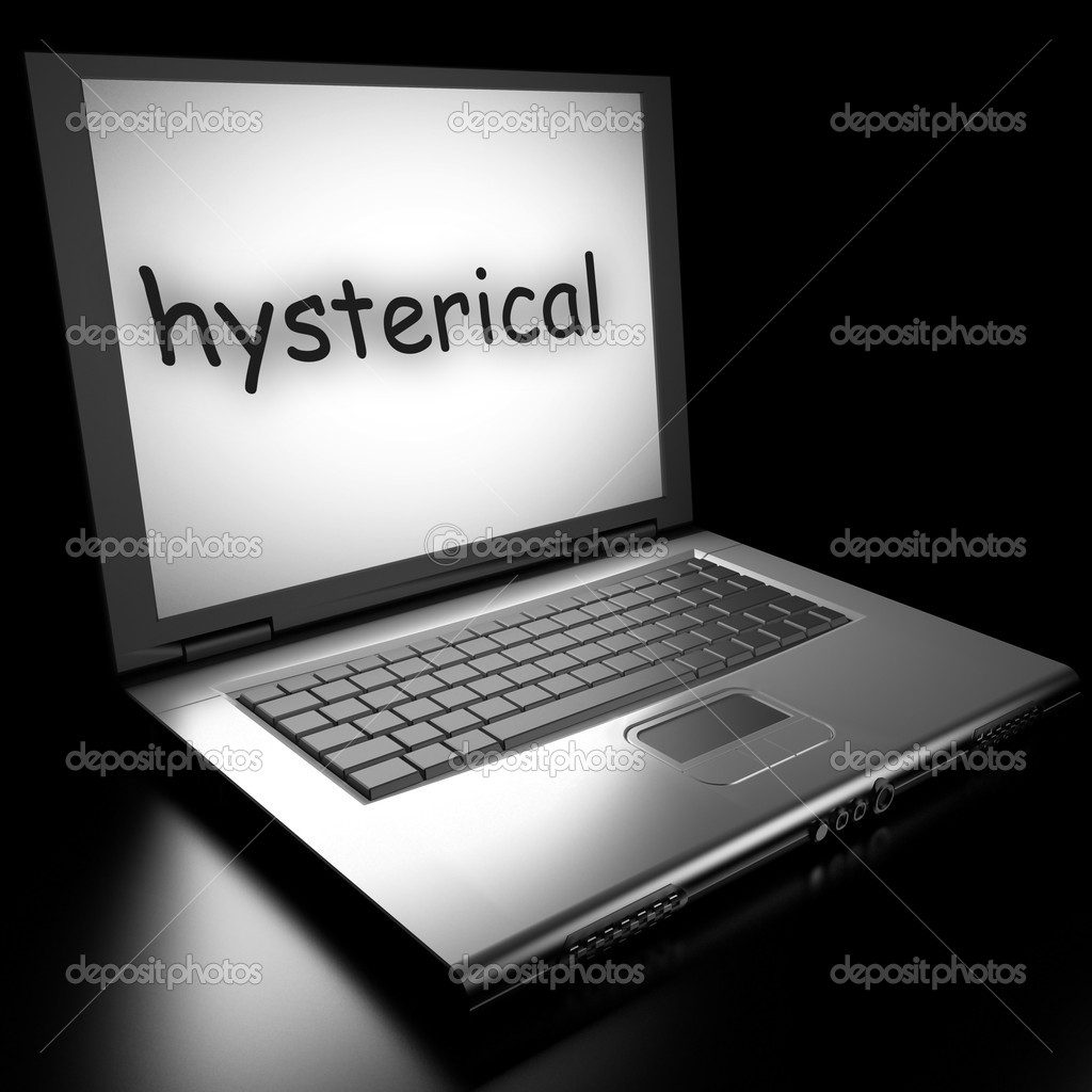 Word on laptop made in 3D — Stock Photo #9868484