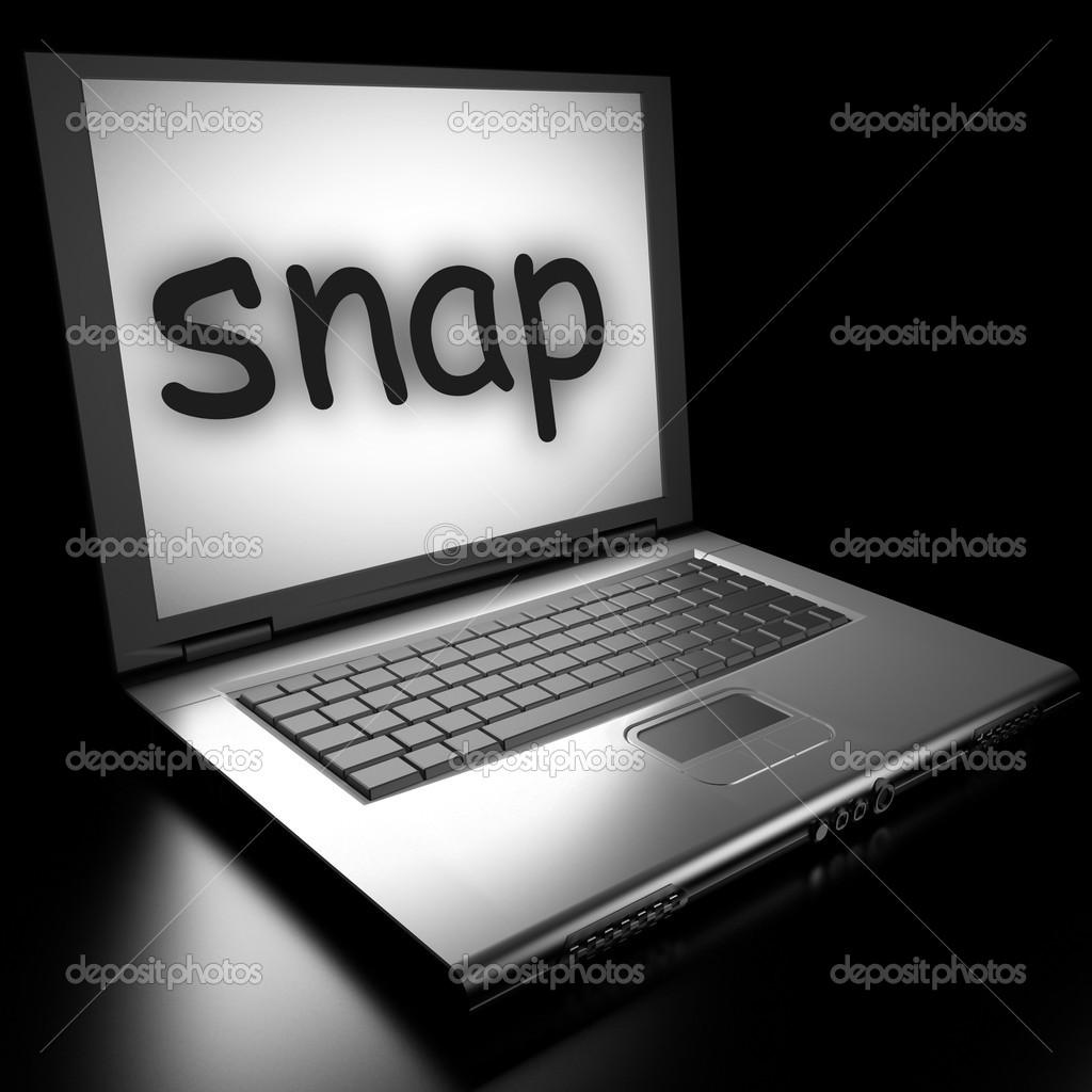 Word on laptop made in 3D — Stock Photo #9879890