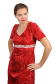 The woman in red — Stock Photo