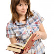 Girl with book — Stock Photo #8706446