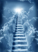 Stairs in sky — Stock Photo