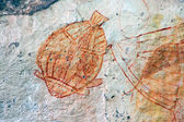 Aboriginal rock art — Stock Photo