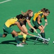 Women's field hockey — Stock Photo