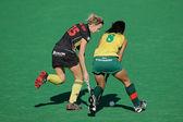 Women's field hockey — 图库照片
