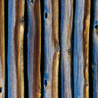 Wooden pole background - Stock Photo