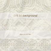 Vector fronteiras florais sem emenda em t de papel amassado folha dourada — Vetorial Stock