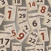 Vector seamless pattern with calendar torn away sheets — Stock Vector