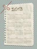 Vector 2013 scrapbook calendar — Stock Vector