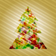 Vector christmas tree — Stockvectorbeeld