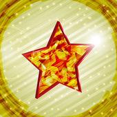 Vector 3d christmas star — Stock Vector