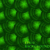 Eps 10 vector abstract seamless background with green circles — Vector de stock