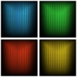 Vector grungy striped backgrounds, different colors — Stock Vector