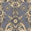 Vector seamless eastern style paisley background — Vector de stock #8491760