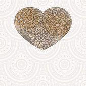 Seamlessl zemin üzerine çiçek desenli vektör kalp — Stok Vektör
