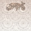 Vector paisley element on seamless background — Imagens vectoriais em stock