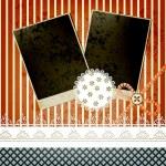 Vector scrapbook template design with two frames, bow, button an — Stock Vector #9110329