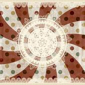 Vettore sfondo retrò con tovaglioli lacy e ornamento floreale b — Vettoriale Stock