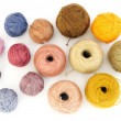 Colorful wool yarn — Stock Photo