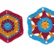 Stock Photo: Crocheted hexagonal